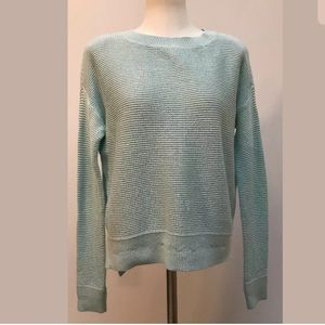 Ann Taylor LOFT Aqua Long Sleeves Knit Sweater